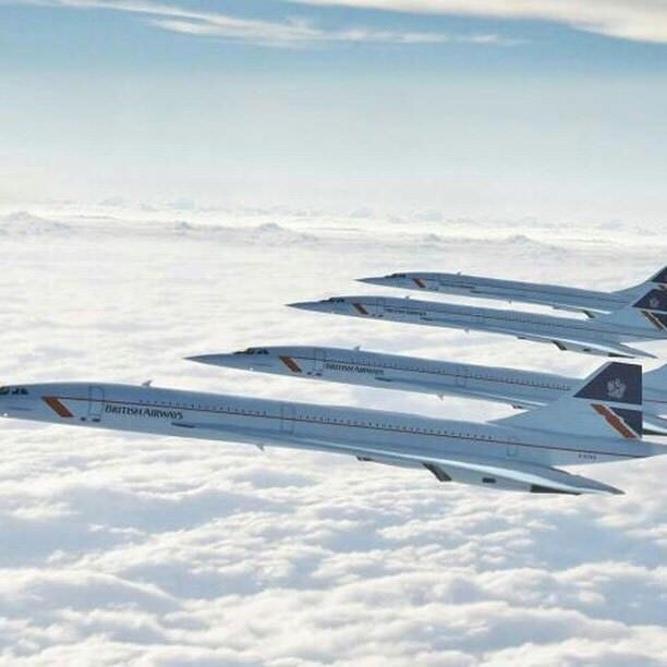 You may be cool, but you'll never be 4 British Airways Concordes flying in formation cool