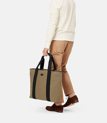 NWTJACK SPADE Surf Canvas Bonded/Durable Large Top Zip Tote/Carryall-LeatherTrim