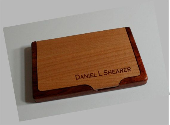 19 best biz cards images on pinterest business card holders wood items similar to business card holder personalized maplerosewood business card holder great gift idea for the professional on etsy reheart Images