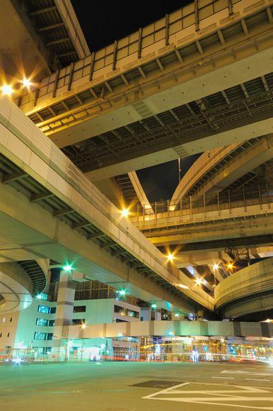 阪神高速道路 3号神戸線 16号大阪港線 阿波座JCT【写真2】