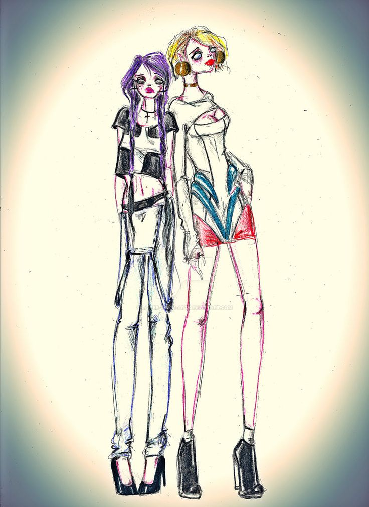 Teenage Power Girl and Huntress by la-fee-verte-art