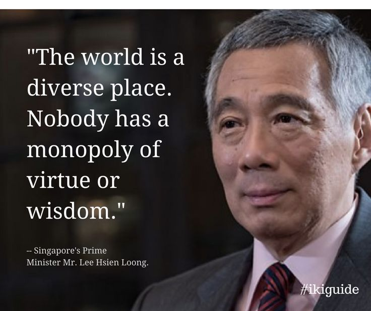 """The world is a diverse place. Nobody has a monopoly of virtue or wisdom."" –PM Lee Hsien Loong, snippet from BBC's HardTalk interview shared by Channel Newsasia today."