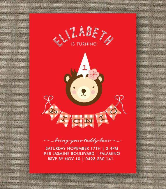 Liczba obrazów na temat Teddy Bearu0027s Picnic na Pintereście 17 - picnic invitation template