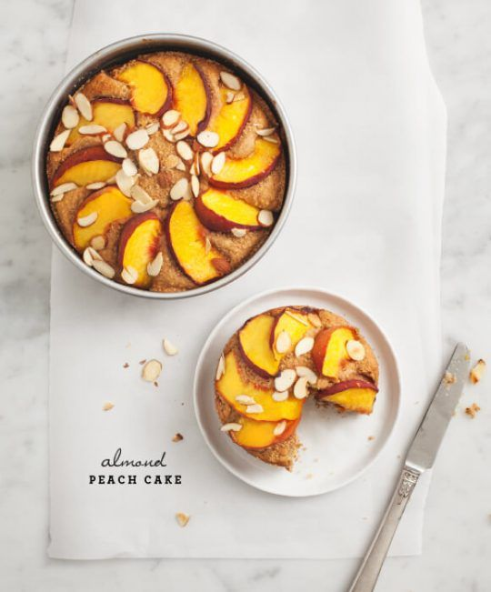 Almond Peach Cake Recipe