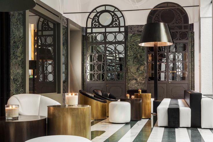 The lobby at Senato Hotel Milano