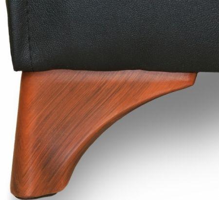 Sitzbank Dinerbank Bistrobank DIVA schwarz mit rotem Rücken Länge…