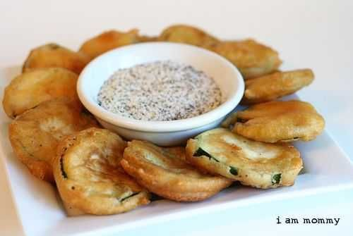 Deep fried zucchini. I usually pan fry them but it takes forever. I'd like to make these now that I have a deep fryer,