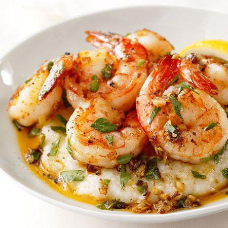Good :) Shrimp- Lemon Garlic Shrimp and Grits from Food Network                                                                                                                                                                                 More