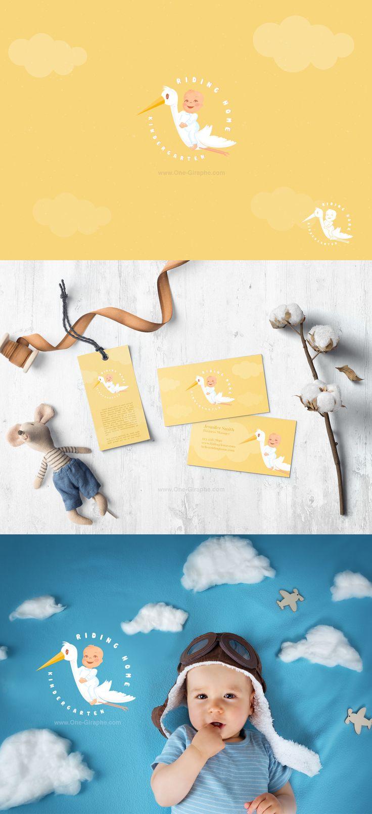 Riding Home -logo for sale! http://one-giraphe.com/prev.php?c=236 #baby #logo #etsy #etsyseller #nursery #sweet #love #logodesign #behance #inspiration #love #babylogo #angel #graphic #graphicdesign #logo #logos #stork