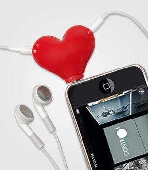 FredFlare.com - Tunes for 2 Headphone Splitter - Heart Jack Splitter
