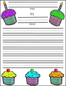 Happy Birthday themed writing paper