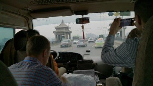 Learning all the time. EMBA group on the move in Wuhan.