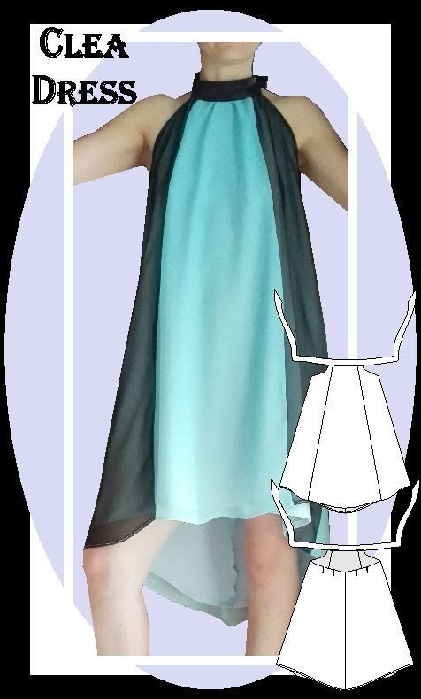 Clea Dress Sewing Pattern, Bridesmaid Dress idea