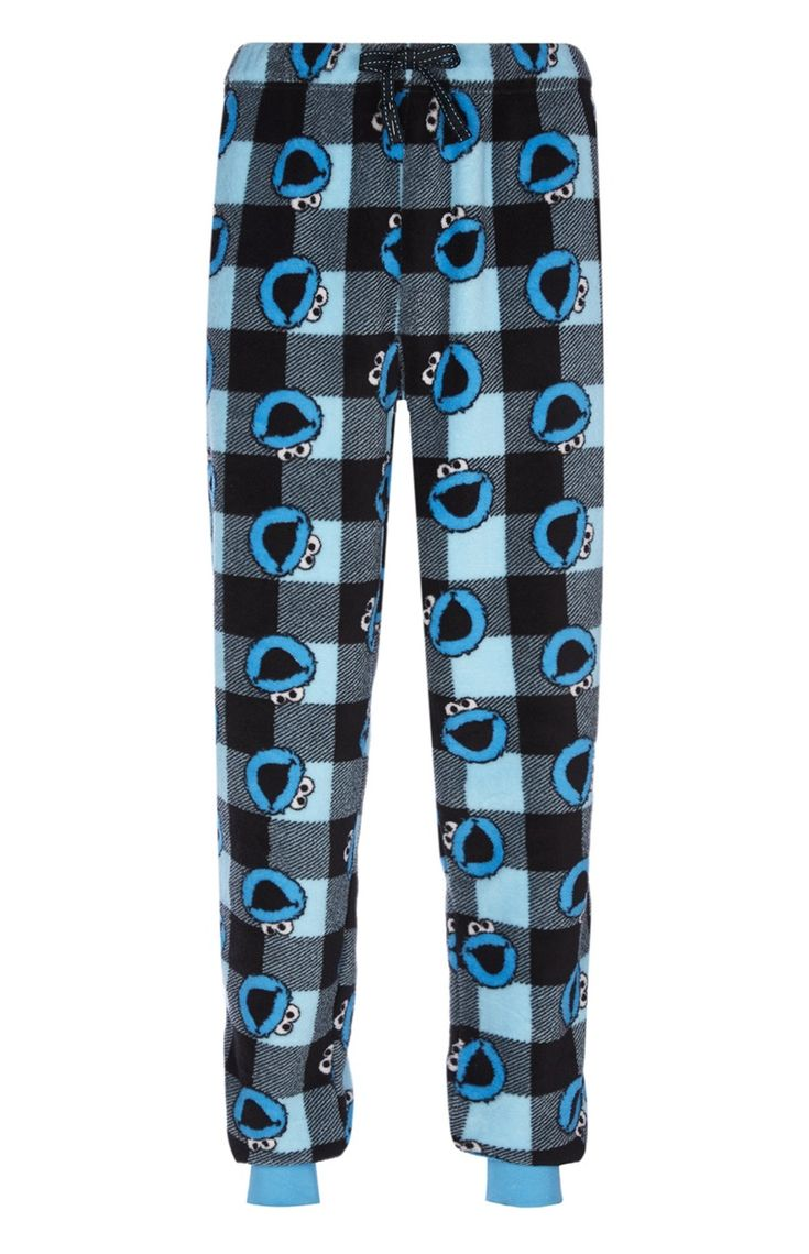 Bas de pyjama sherpa Macaron le glouton