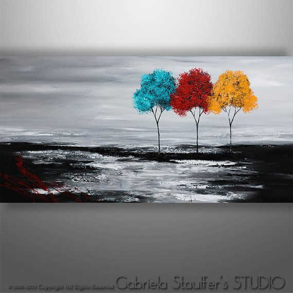 Welcome To Our Studio! --------------------    Hand Painted Modern Original Abstract Paintings by Gabriela and Catalin!