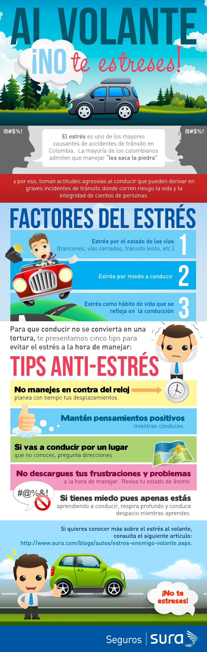 [Infografía] Al volante, ¡no te estreses!