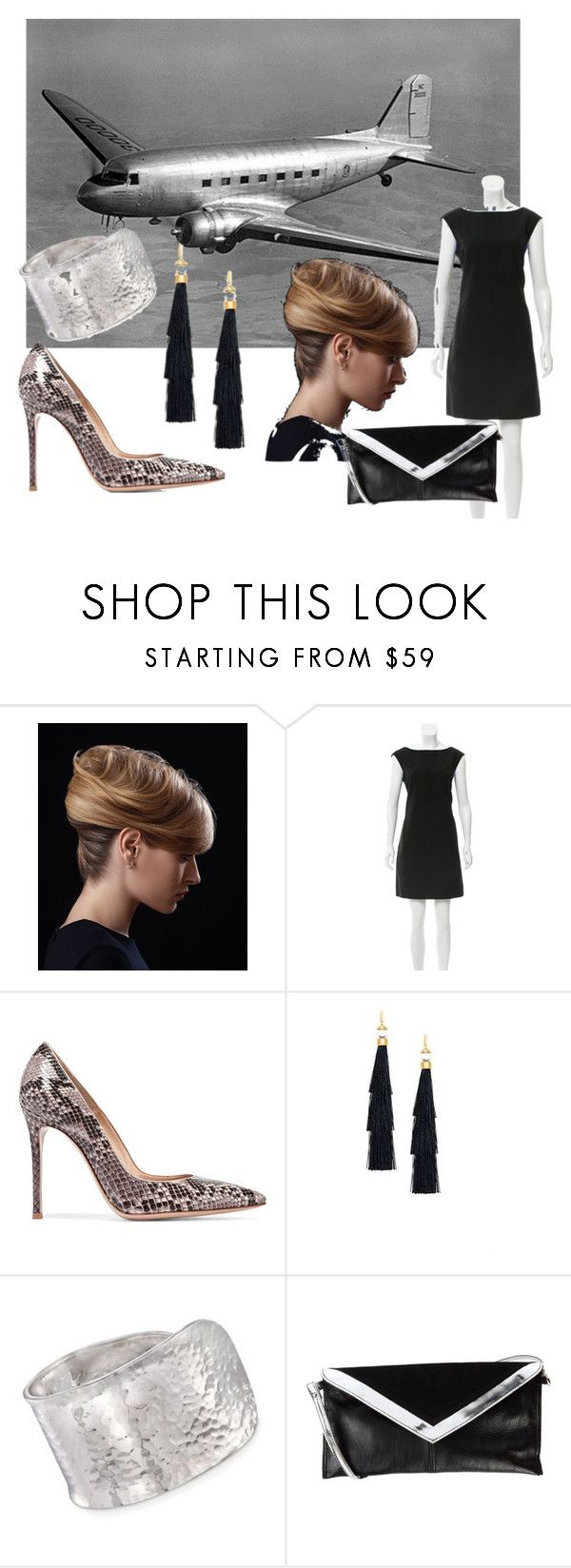 Welcome Party by identicallists on Polyvore featuring Kate Spade, Gianvito Rossi, White in 8, Ross-Simons and Rachel Zoe