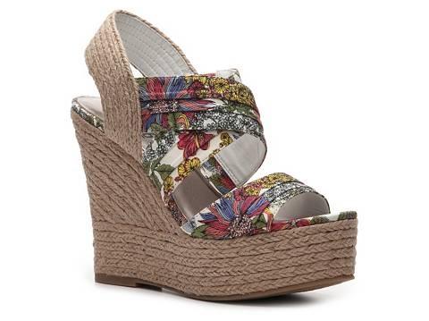 Mix No. 6 Chanel Floral Wedge Sandal High Heel