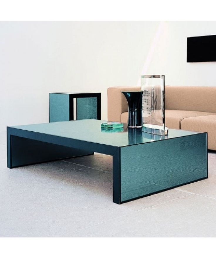 Gallotti Radice Stripe Coffeetable Is Covered With Grey Screen Print And Mirroredglass This