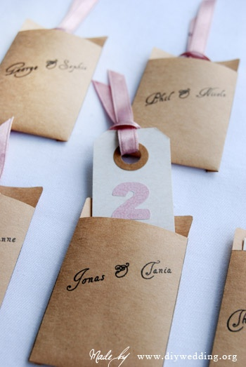 escort cards - but with library book cards!
