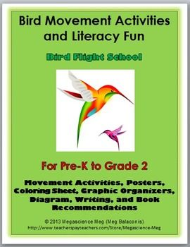 Bird Movement Activities and Literacy Fun