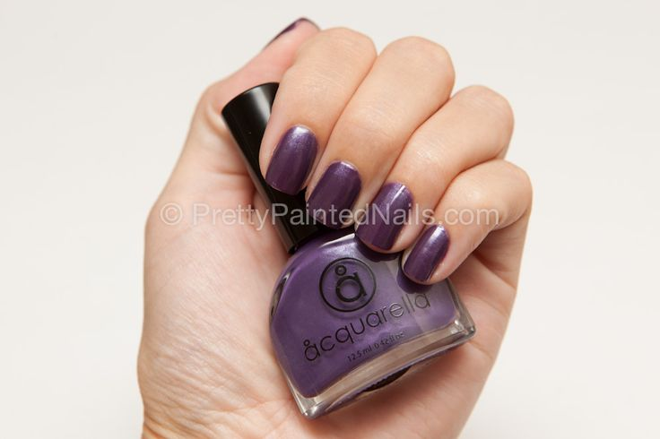 Acquarella Water Based Nail Polish Swatch Date Night (Purple)