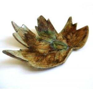 Winter Maple Leaf Dish £15.00 by charlotte hupfield ceramics