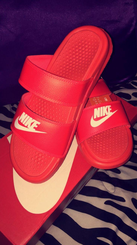 Nike Benassi Duo Slides Shoesss Pinterest Nike And Girls