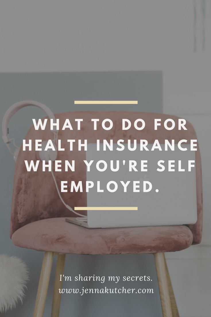 Wondering what to do about health insurance when you're self employed? Jenna Kut... 1