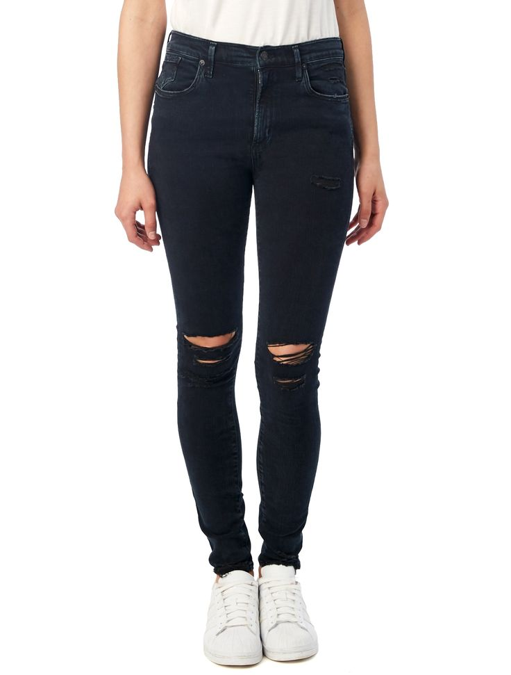 Our timeless and super flattering high rise skinny. Gives you the best curve and longest legs.
