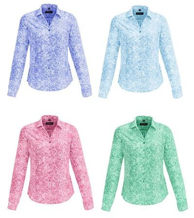 Biz Corporates Solanda ladies long sleeve print shirt
