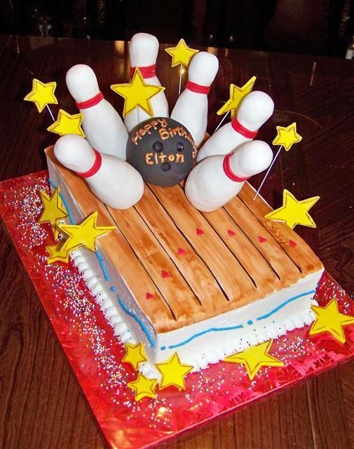 Bowling Cake Birthday Party Ideas Pinterest Bowling