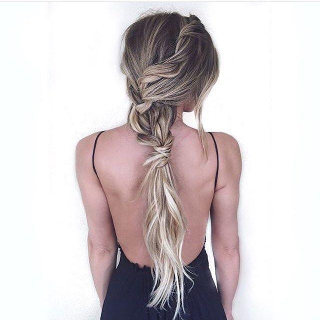 Gorgeous hair color & braid by ✨@hairby_chrissyon @kaelamishae