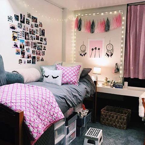 Grey X Pink Ftw Dormify Com Dorm Room Designs Pink