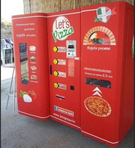 pizza vending machine... If they had these where I live I would be soooo fat!