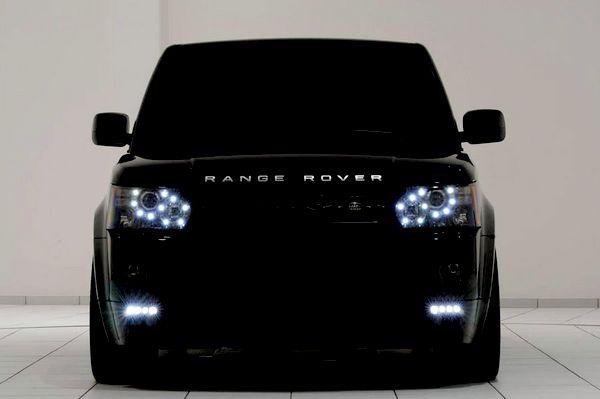range rover. all black everything