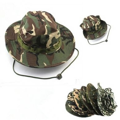 18-Colors Military Camouflage Bucket Hats Camo Fisherman Hats With Wide Brim Sun Fishing Bucket Hat Camping Hunting Hat,D0250