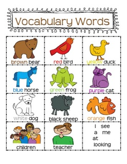 Adventures in Kindergarten: A Few Great Freebies!: Classroom, Bears Brown, Colors, Vocabulary Charts, Kindergarten, Brown Bears, Bears Vocabulary, First Grade, Writing Station