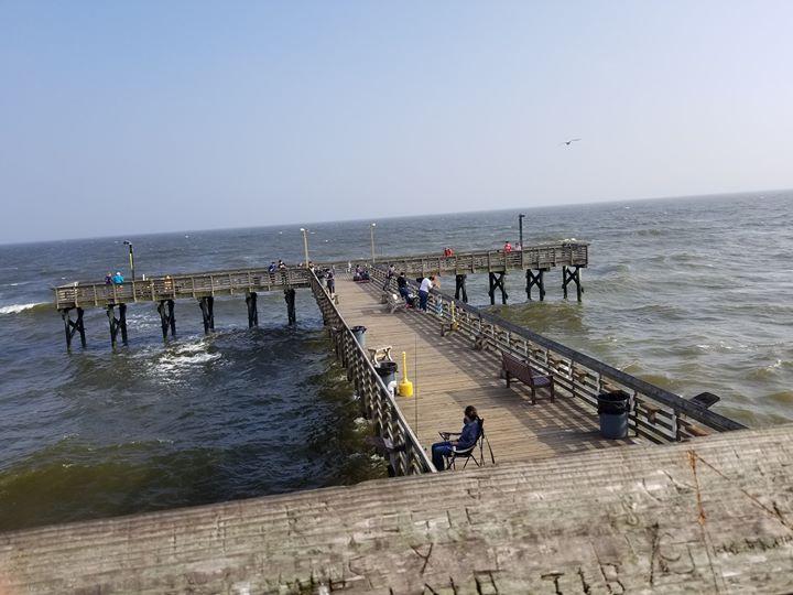 Nice Sunny Windy Day Fishing 61stpier Pier Pierlife Galveston