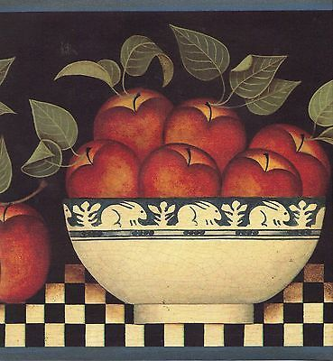 Dedham Pottery Crackle Bowl Rabbit Fruit Apple Wallpaper