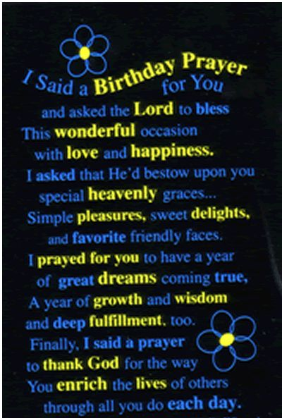 Birthday Poems | Free Christian Childrens Prayers - Religious Prayers for: Birthday