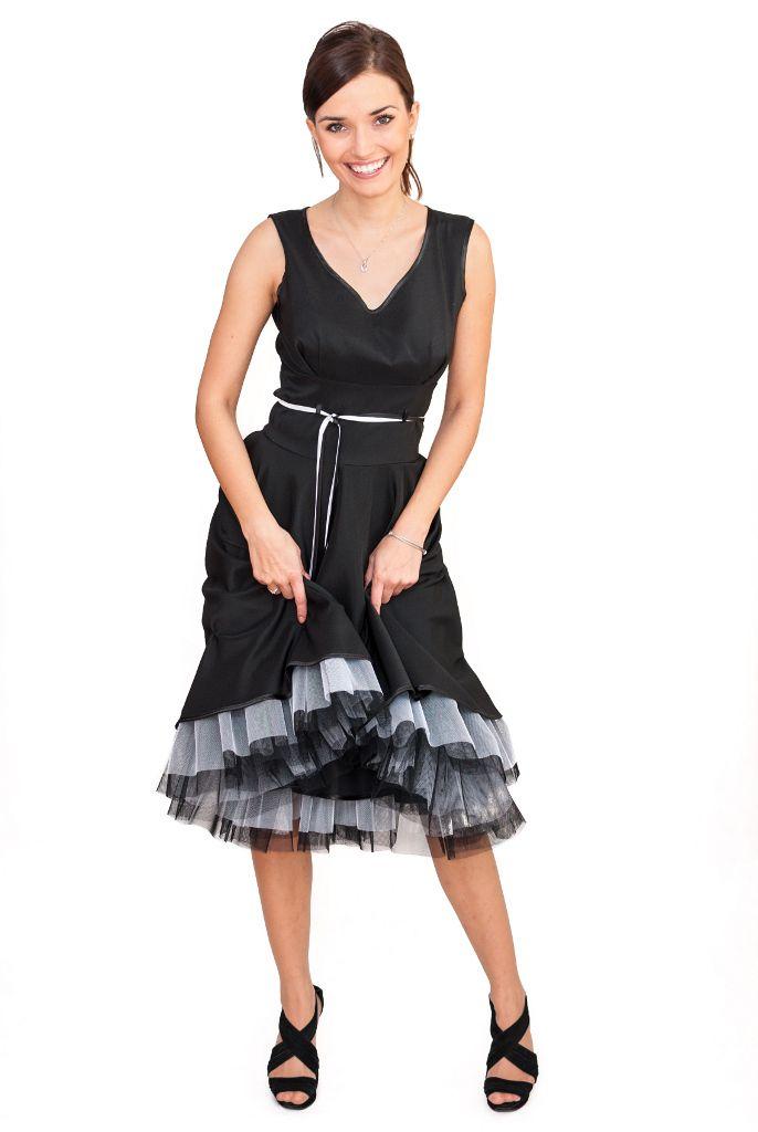 Elegancka Sukienka Xxl Plus Size 40 52 Rozkloszowana Sukienki Plus