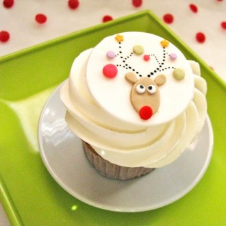 Silly Rudolph fondant topper to match entire party set!