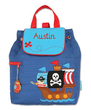 Look at this #zulilyfind! Pirate Personalized Quilted Backpack #zulilyfinds