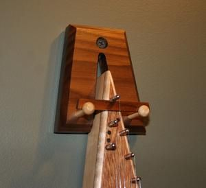 Song of the Wood Bowed Psaltery Hanger (Walnut)