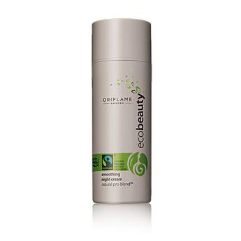 Oriflame Ecobeauty Smoothing Night Cream (0 Rating)  Night cream antioksidan multi-aksi ini secara intens menutrisi, melindungi dan meremajakan kulit Anda ketika tidur. Kemasan kedap udara, diuji secara dermatologis. 50 ml. Kode:23406  Rp.198.000