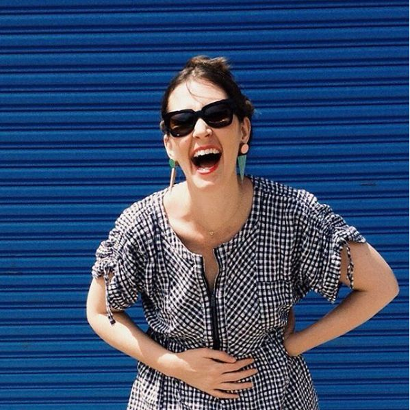 Frocktober day 3 - read more on the blog -   http://pottymouthmama.blogspot.com.au  #style #fashion #smock #gingham
