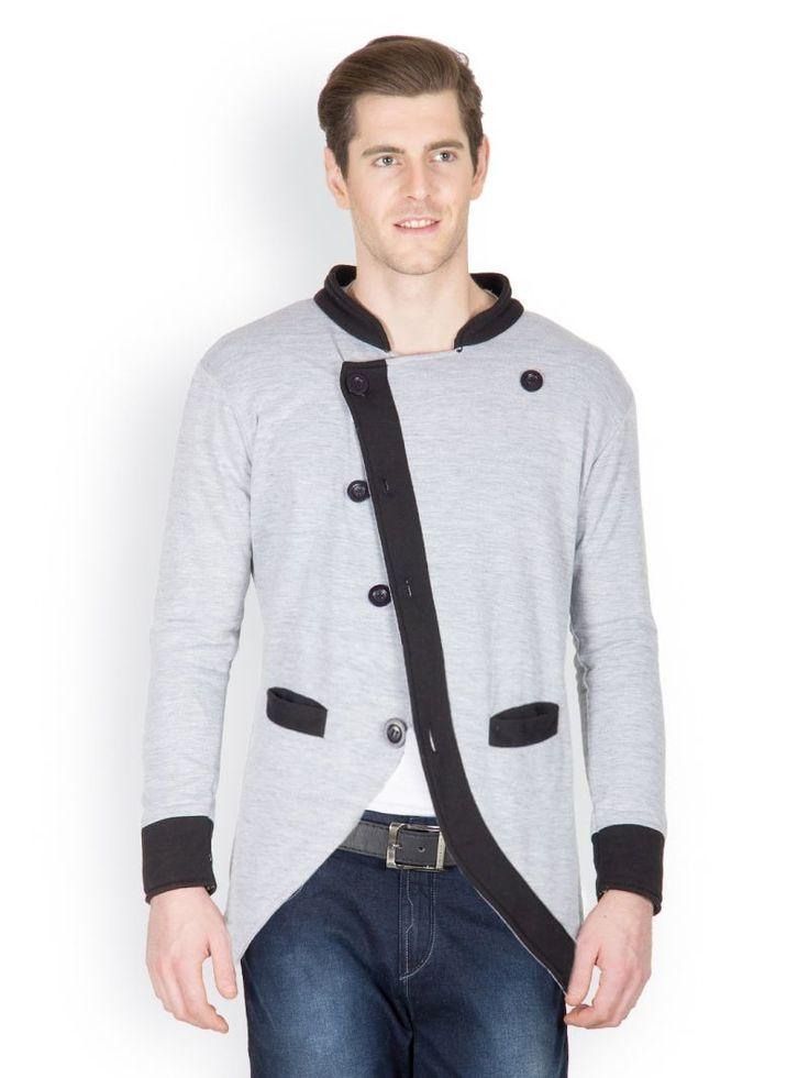 Cotton Grey Mens Flipking Grey Casual Blazer