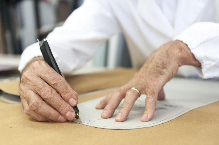 Costantino in his laboratory Cepi Pelletterie in Pianoro in the making of Gamberini Italia's bags