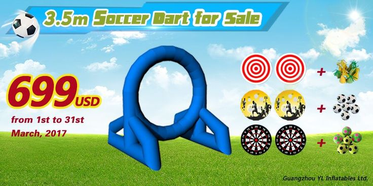 Big Sales!!!! 3.5m Soccer Dart for sale!! It only cost $699!! Email: inflatables-yl@hotmail.com #ylinflatables #games #inflables #gonflables #juegos #juex #bigsales #promotion